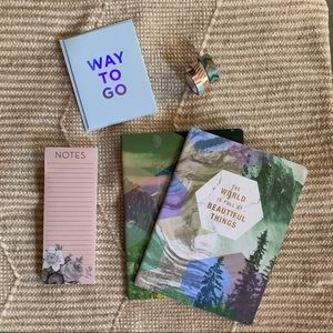 Gift Set 2 Geometric Notebooks + Notepad + Washi